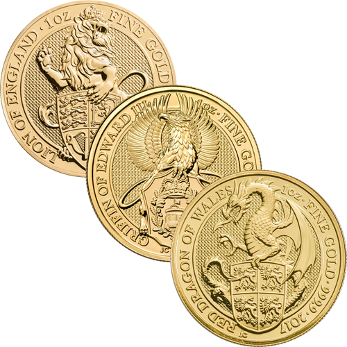 Queens Beasts Gold Coins