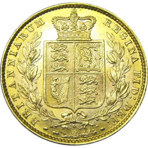 Shield Reverse Gold Sovereign