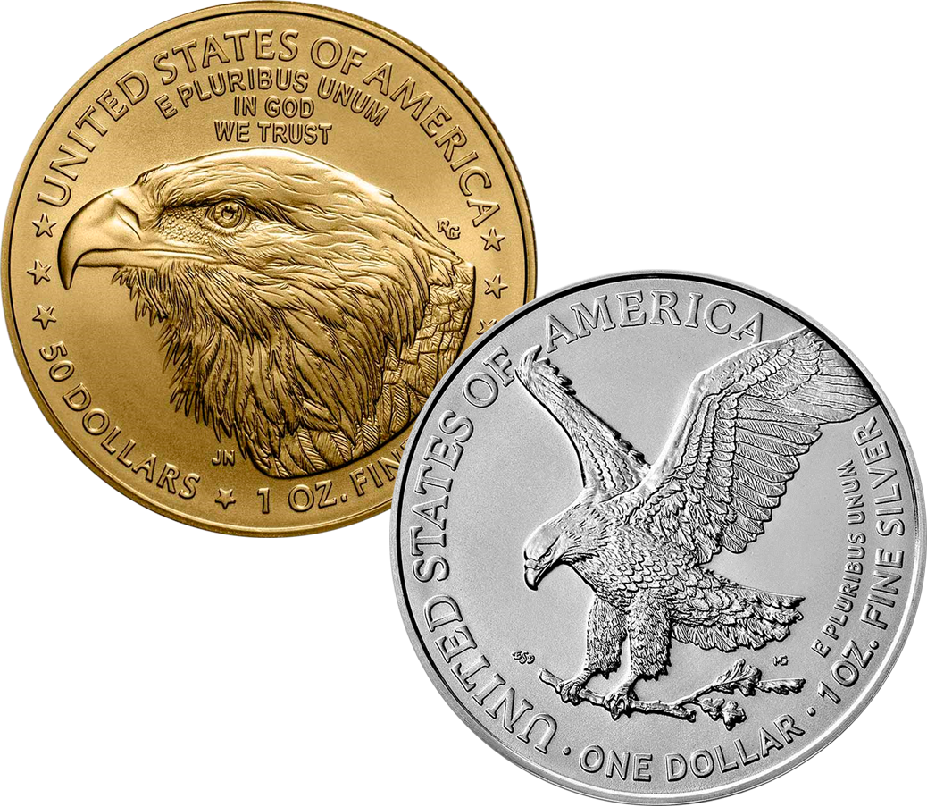 2021 Type II Gold & Silver USA Eagle Coins