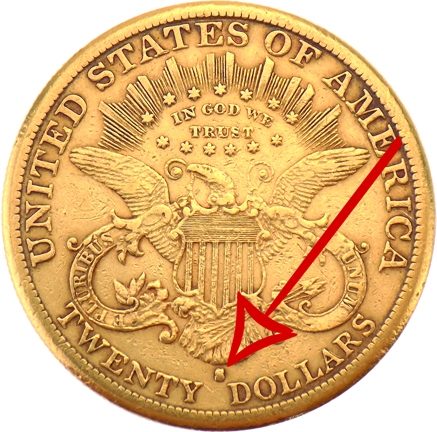USA Gold Coin with mint mark