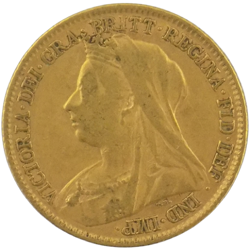 Veiled Head Gold Sovereign