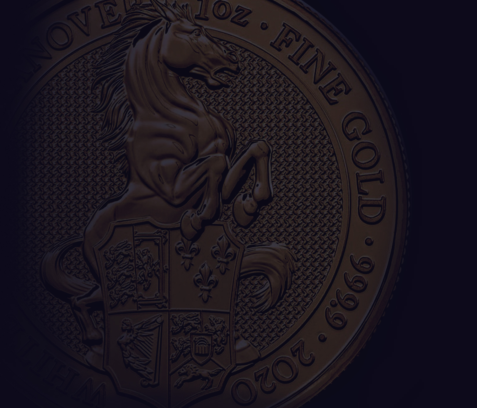 Queen's Beasts White Horse of Hanover Gold Coin