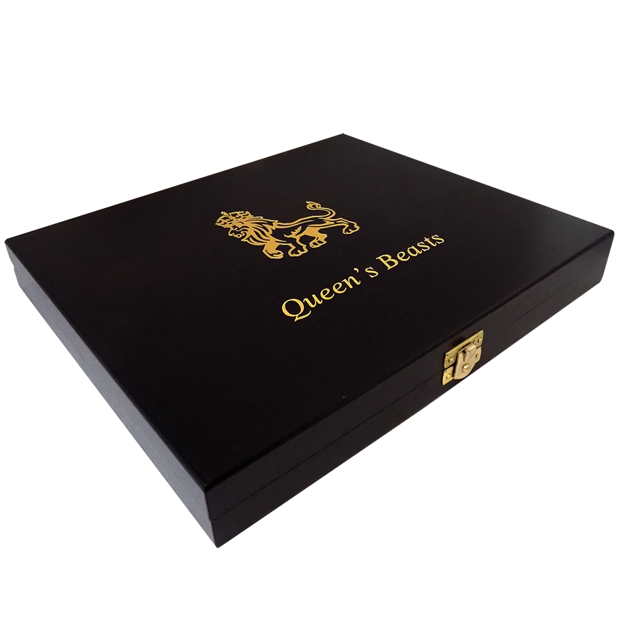 Wooden Box for Queen's Beasts 1oz Gold Coins (Image 2)
