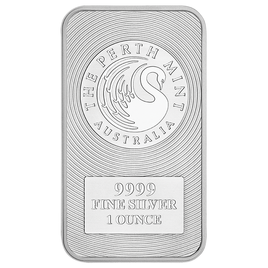Perth Mint Kangaroo 1oz Silver Bar