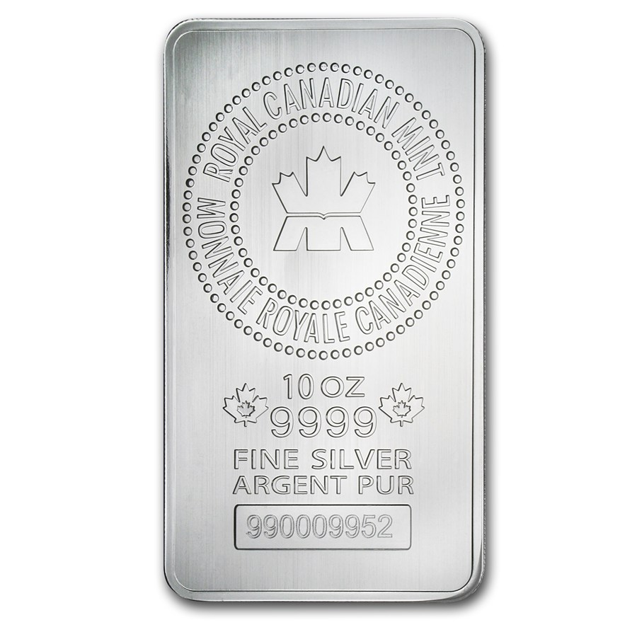 Canadian Mint 10oz Silver Bar (Image 1)