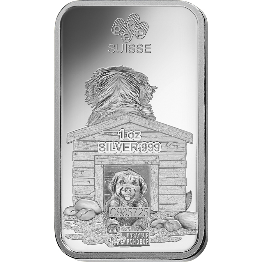 PAMP 2018 Lunar Dog 1oz Silver Bar (Image 4)