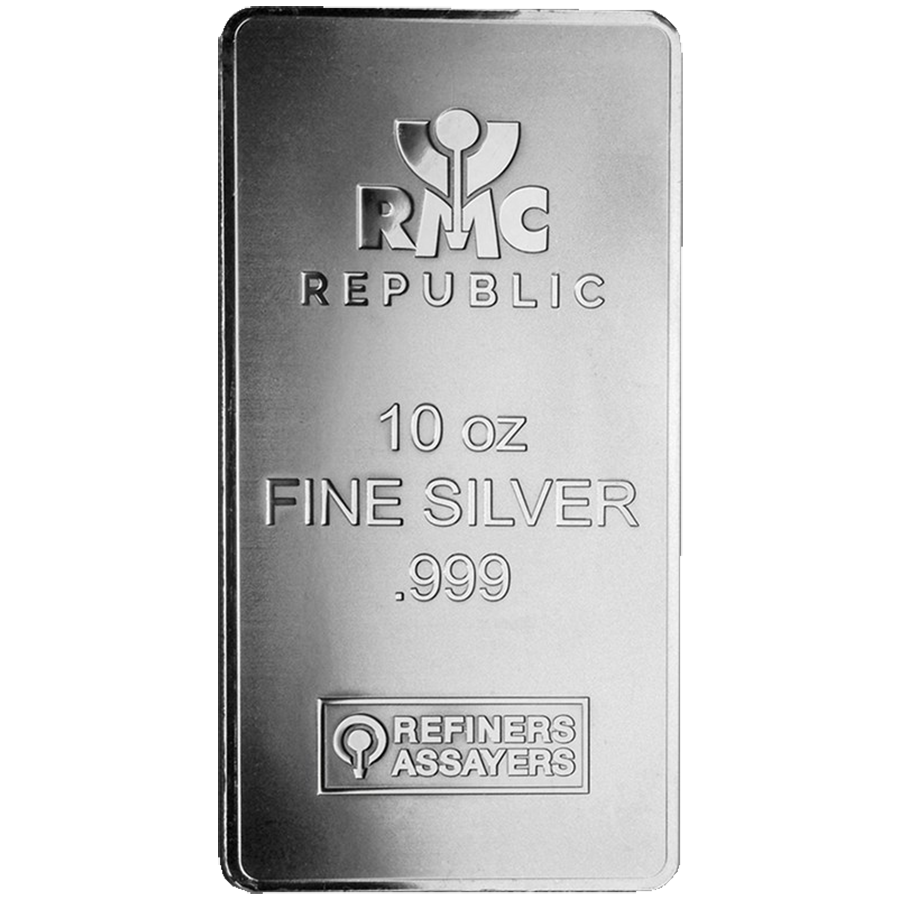 RMC 10oz Stamped Silver Bar (New Style)