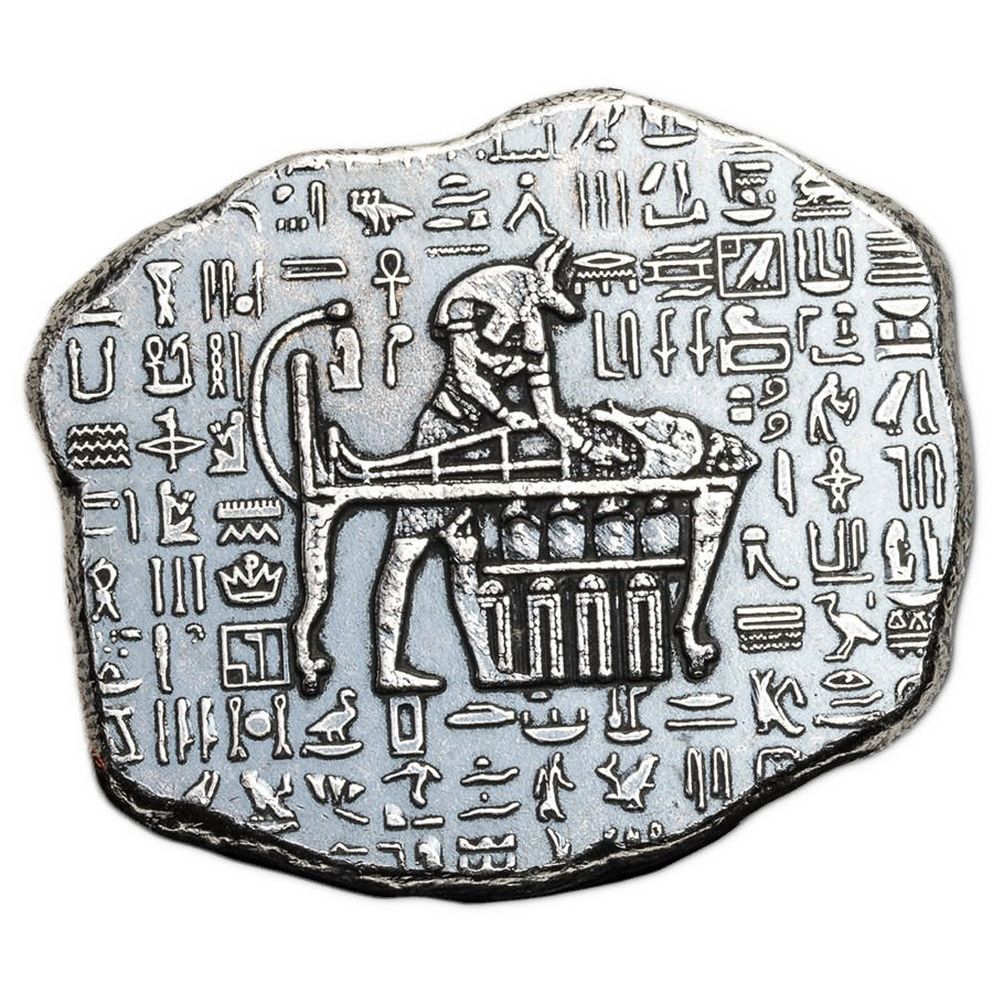 Anubis Relic 1oz Hand-Poured Silver Bar (Image 1)