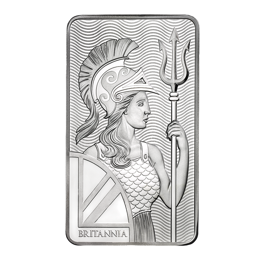 Royal Mint Britannia 10oz Silver Bar (Image 1)