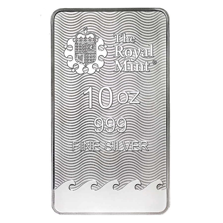 Royal Mint Britannia 10oz Silver Bar (Image 2)