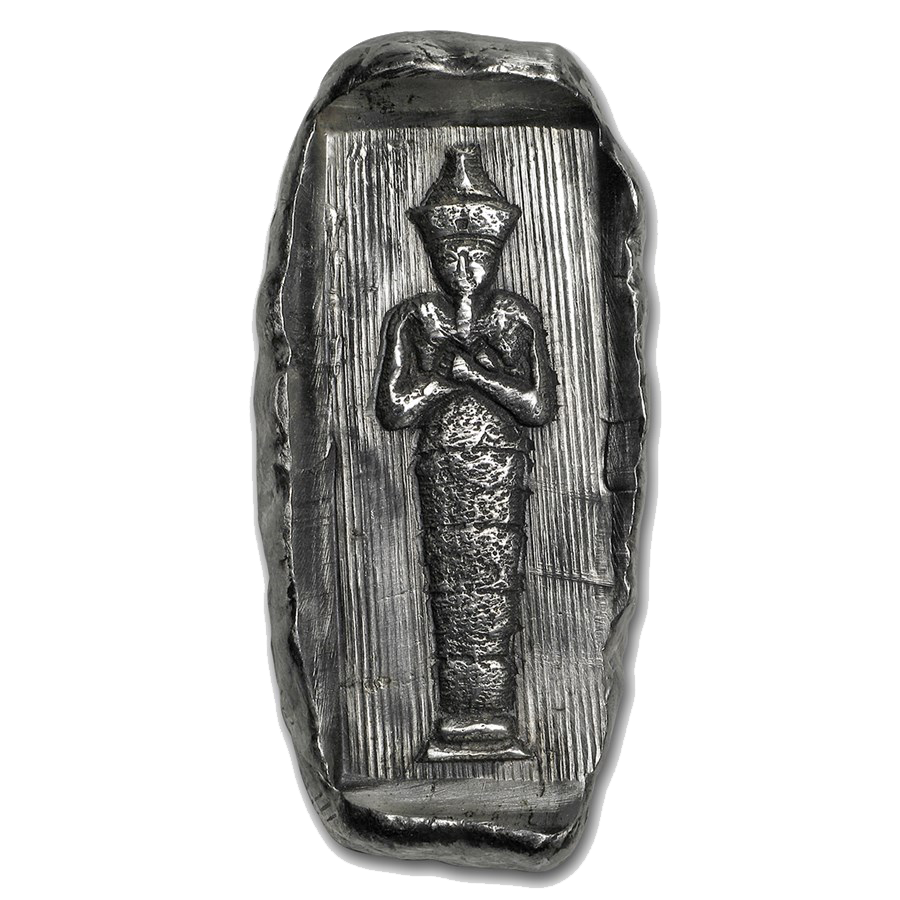 Egyptian Tomb Ramses II Relic 2oz Hand-Poured Silver Bar