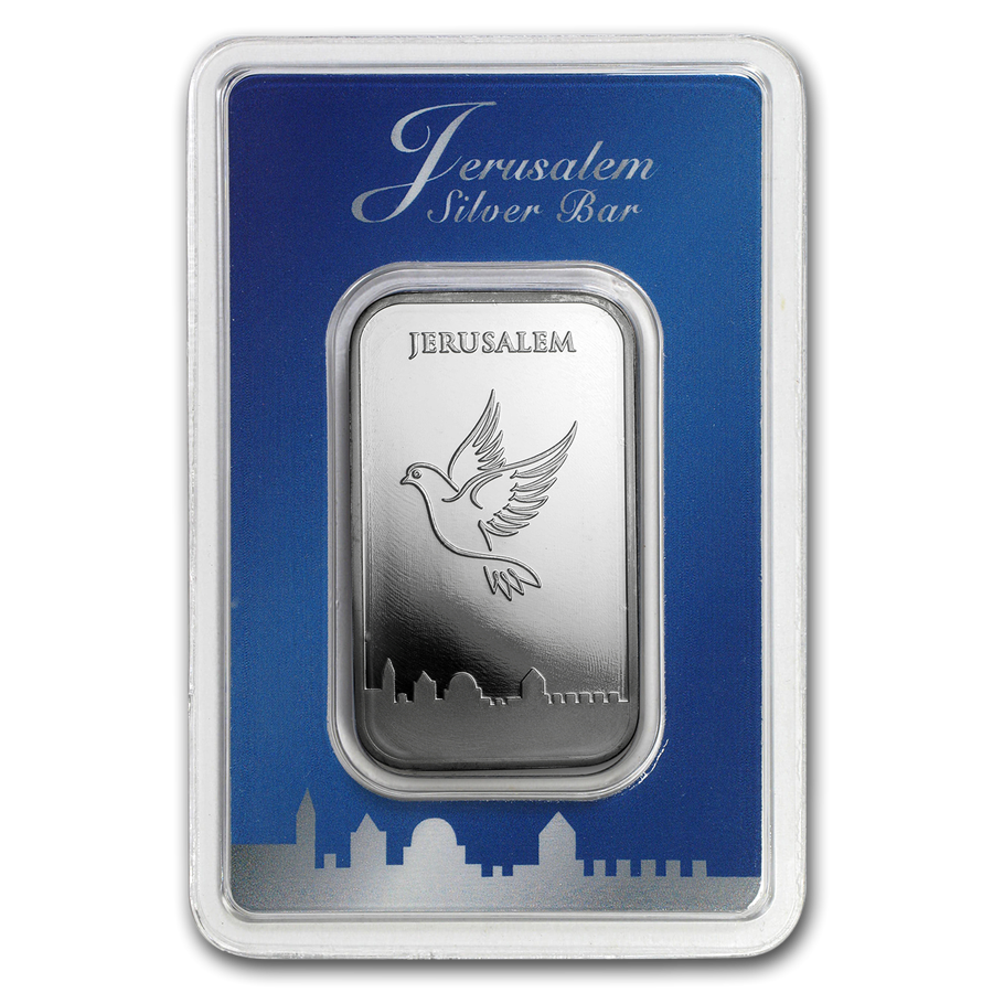 Holy Land Mint Dove of Peace 1oz Silver Bar (Image 1)