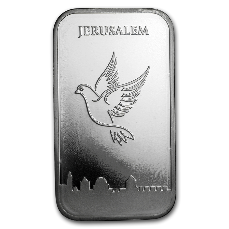 Holy Land Mint Dove of Peace 1oz Silver Bar (Image 3)