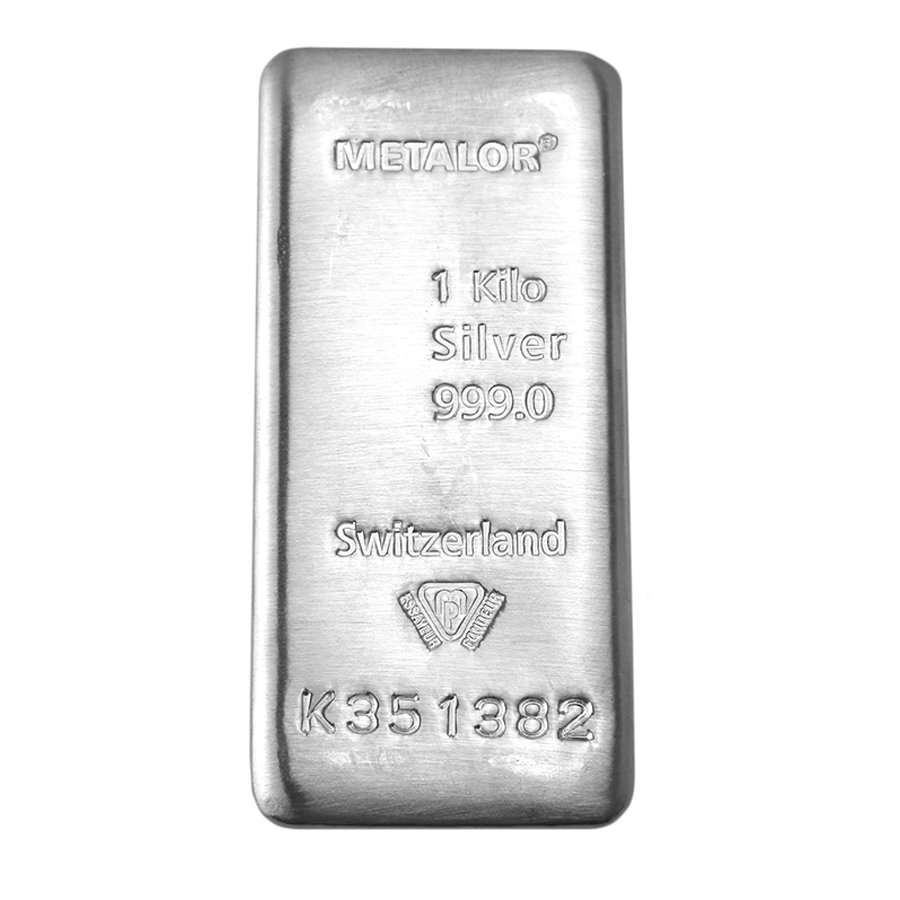 Metalor 1Kg Silver Bar (Image 2)