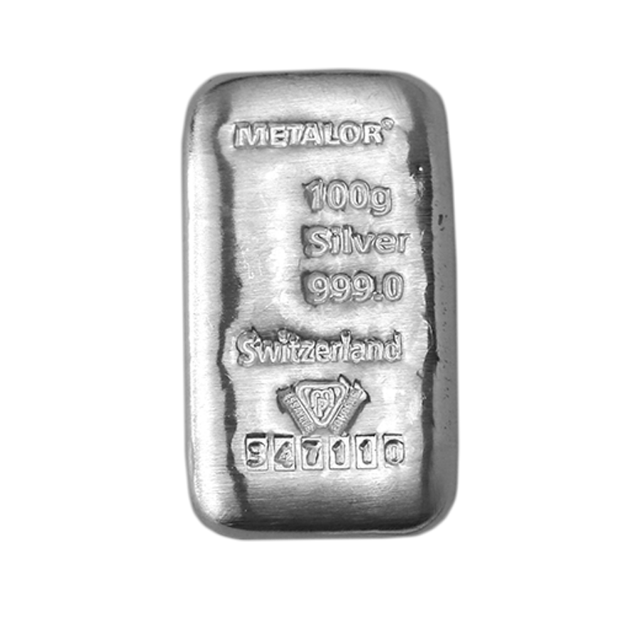 Metalor 100g Silver Bar (Image 2)