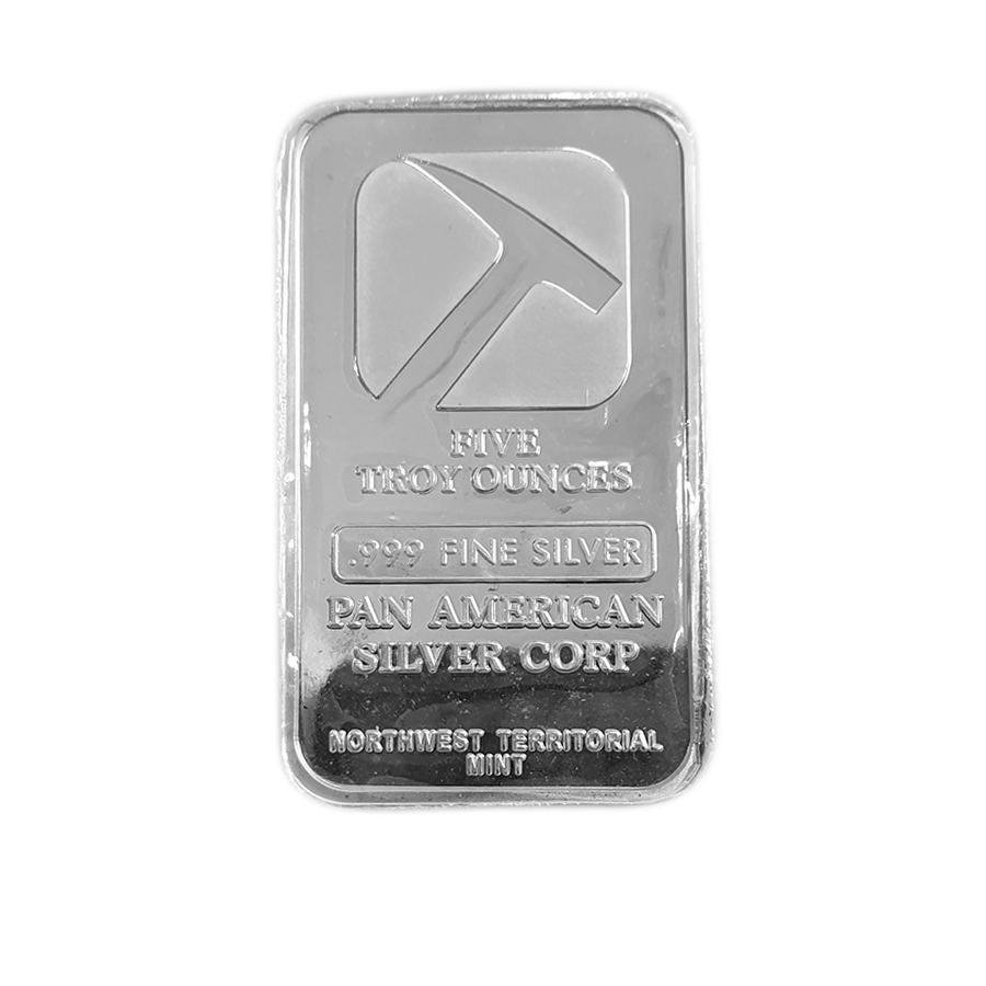Pre-Owned Pan American Silver Corp 5oz Silver Bar