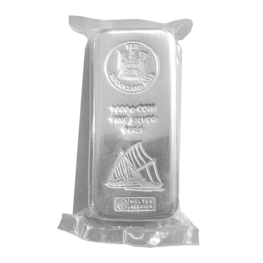 Pre-Owned 2018 Fiji $10 1kg Silver Coin Bar