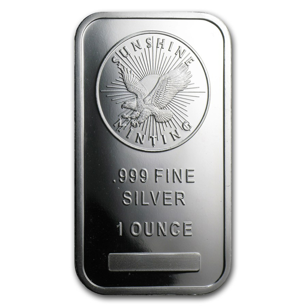 Sunshine Mint 1oz Silver Bar (Image 1)