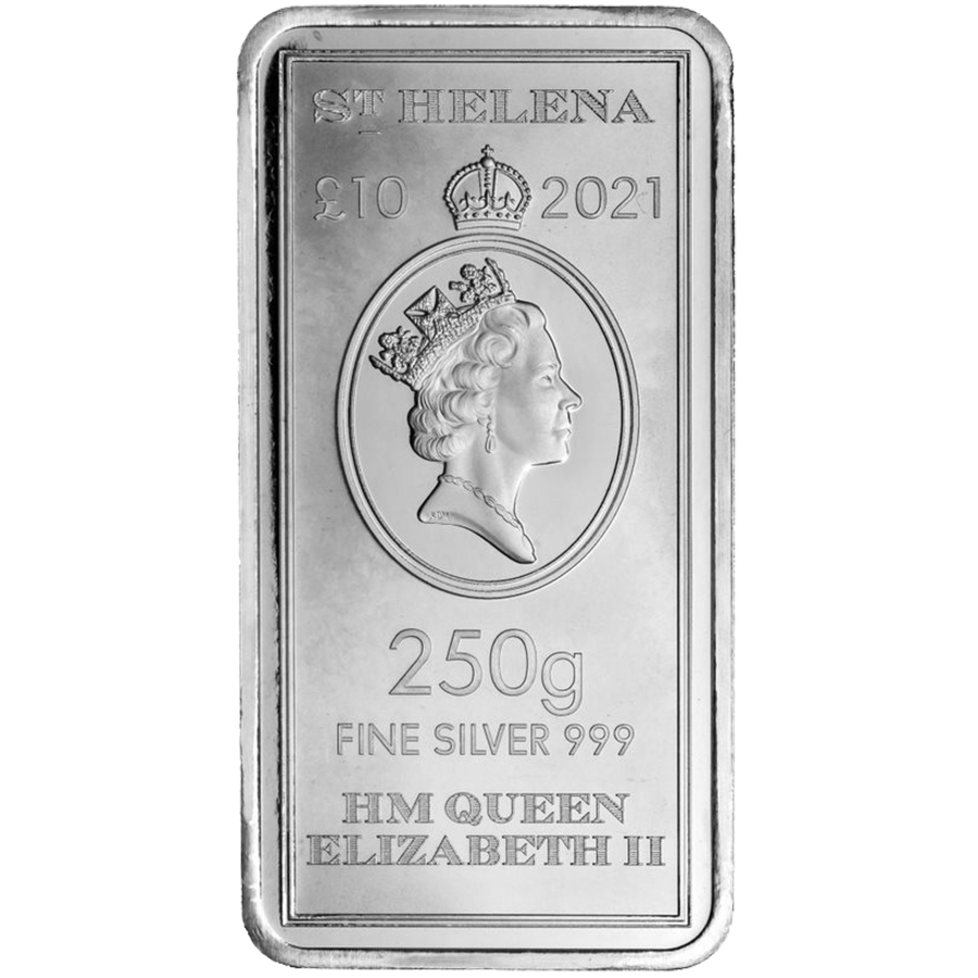 2021 St Helena - East India Company 250g Silver Coin/Bar (Image 1)