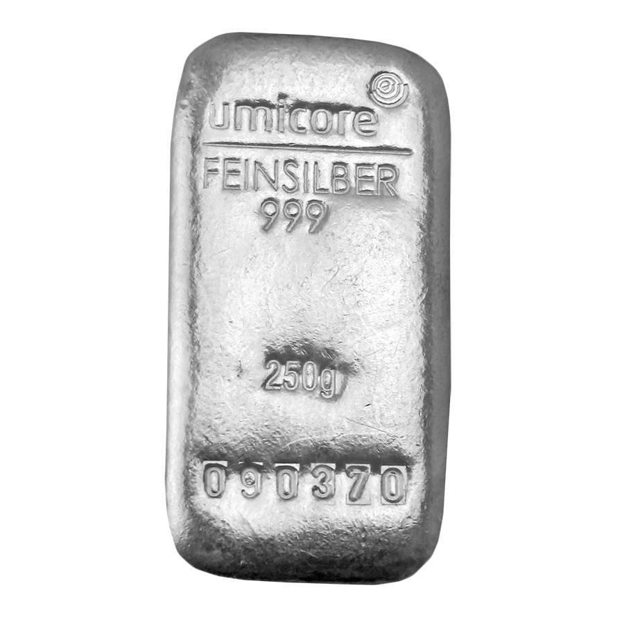 Umicore 250g Silver Bar