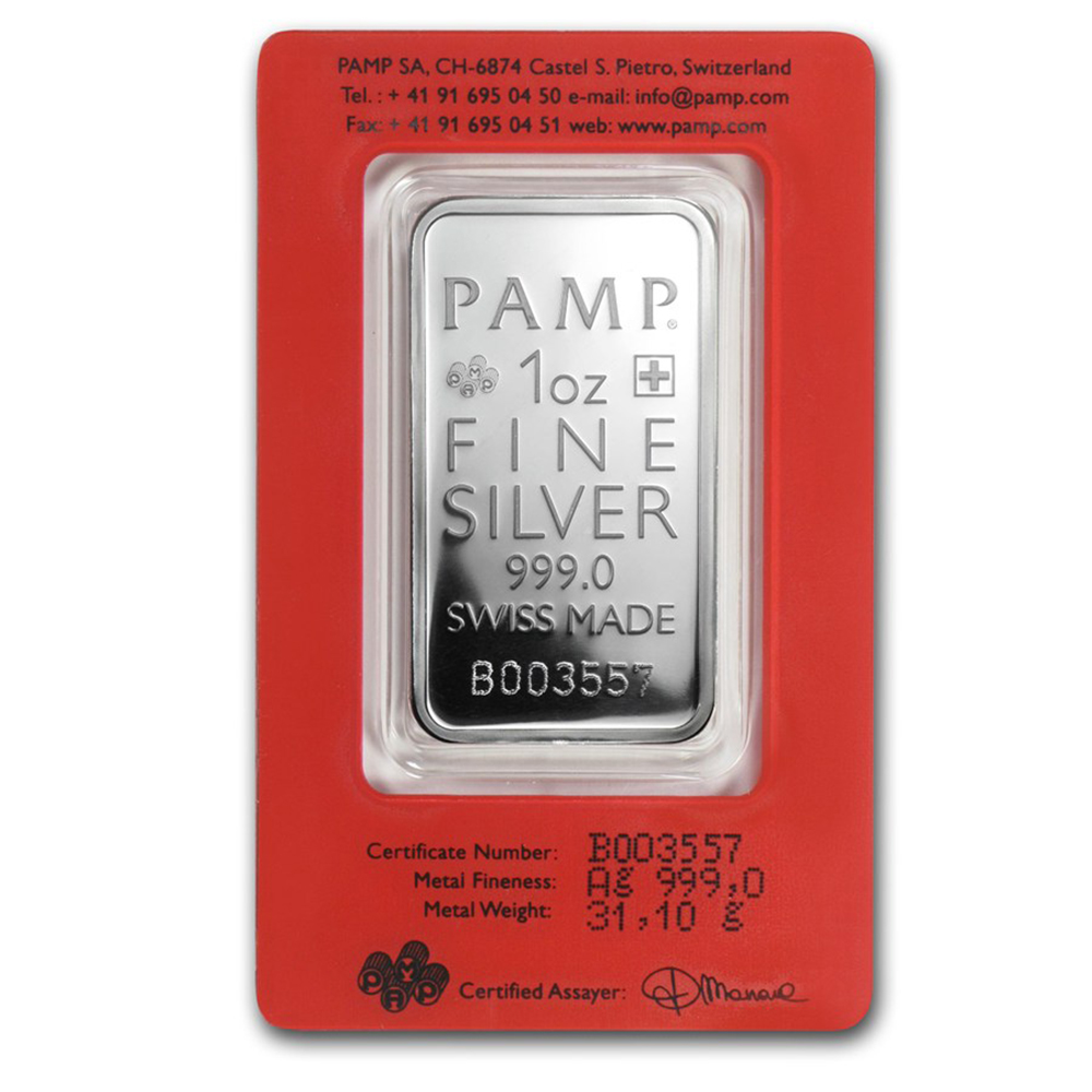 PAMP True Happiness 1oz Silver Bar (Image 2)