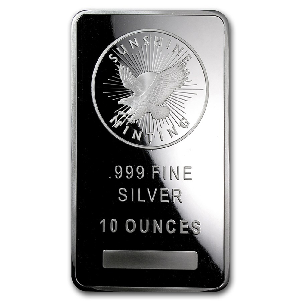 Sunshine Mint 10oz Silver Bar - Second Quality