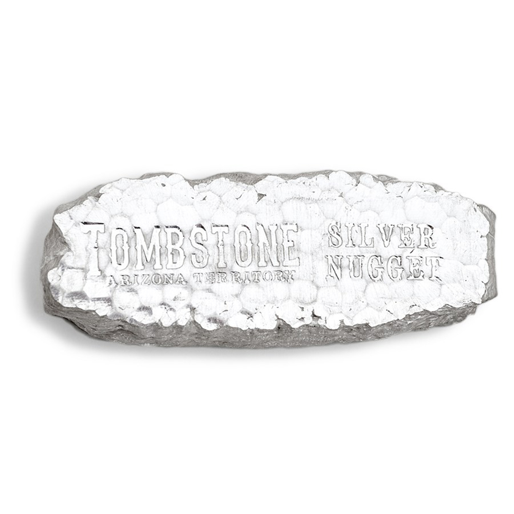 Scottsdale 10oz Tombstone Silver Nugget (Image 2)