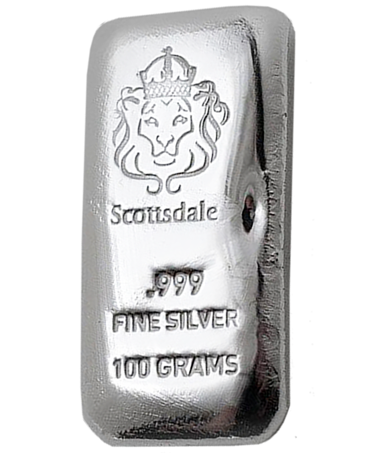 Scottsdale Mint 100g Cast Silver Bar (Image 1)