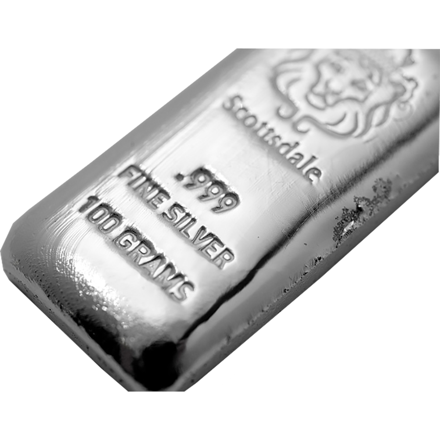 Scottsdale Mint 100g Cast Silver Bar (Image 3)