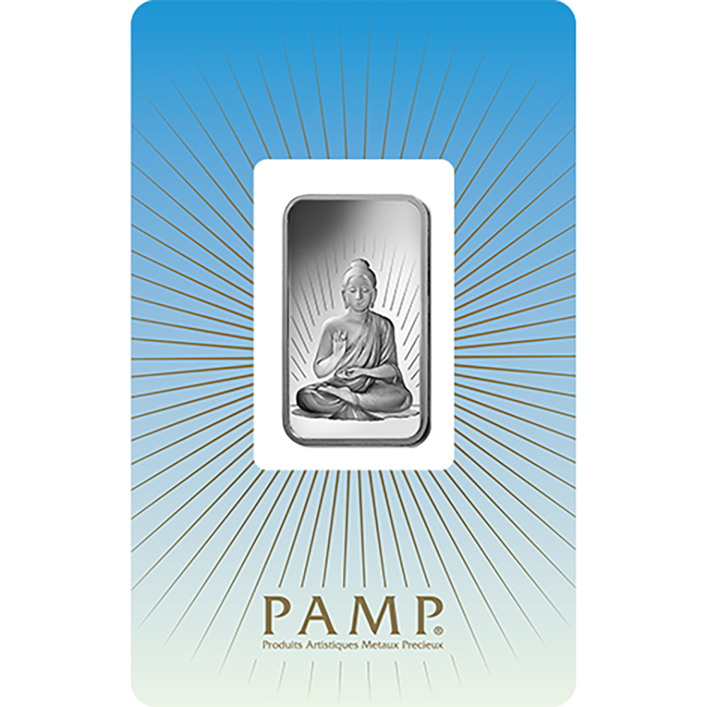 PAMP 'Faith' Buddha 10g Silver Bar
