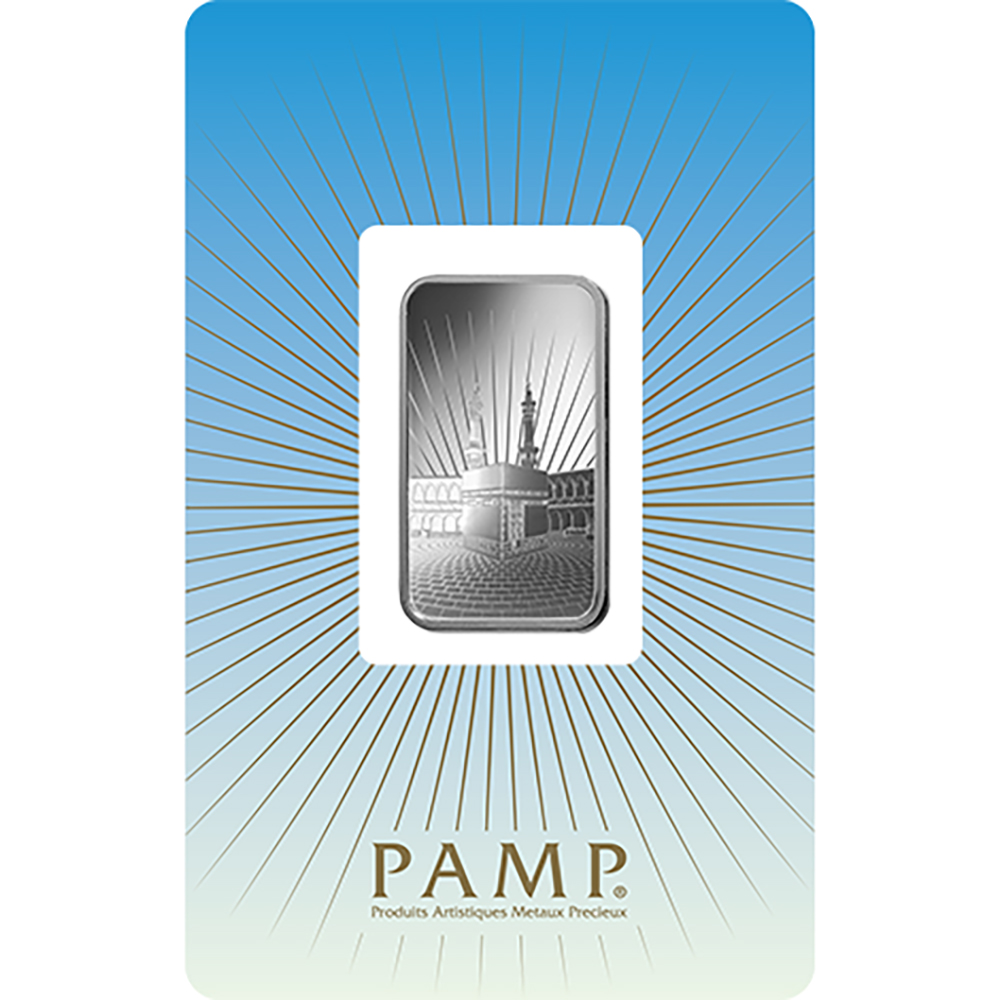 PAMP 'Faith' Ka ´Bah, Mecca 10g Silver Bar