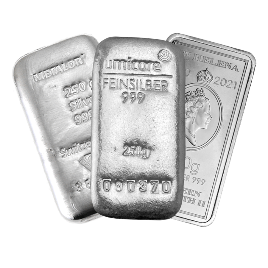 Pre-Owned 250g Silver Bar