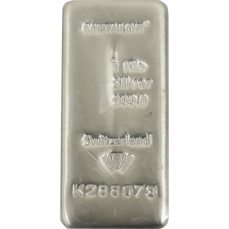 Pre-Owned Metalor 1Kg Silver Bar (Image 2)