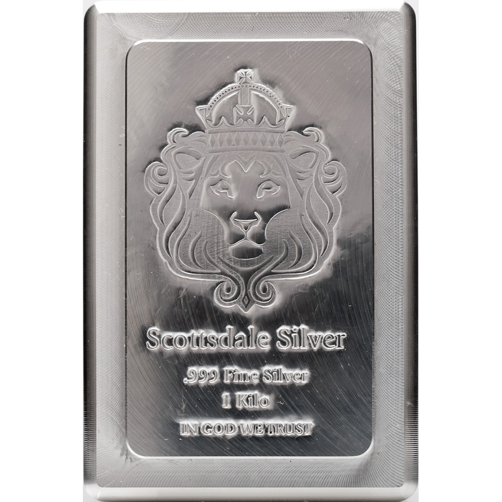 Pre Owned Scottsdale Mint 1kg Stacker Silver Bar Silver