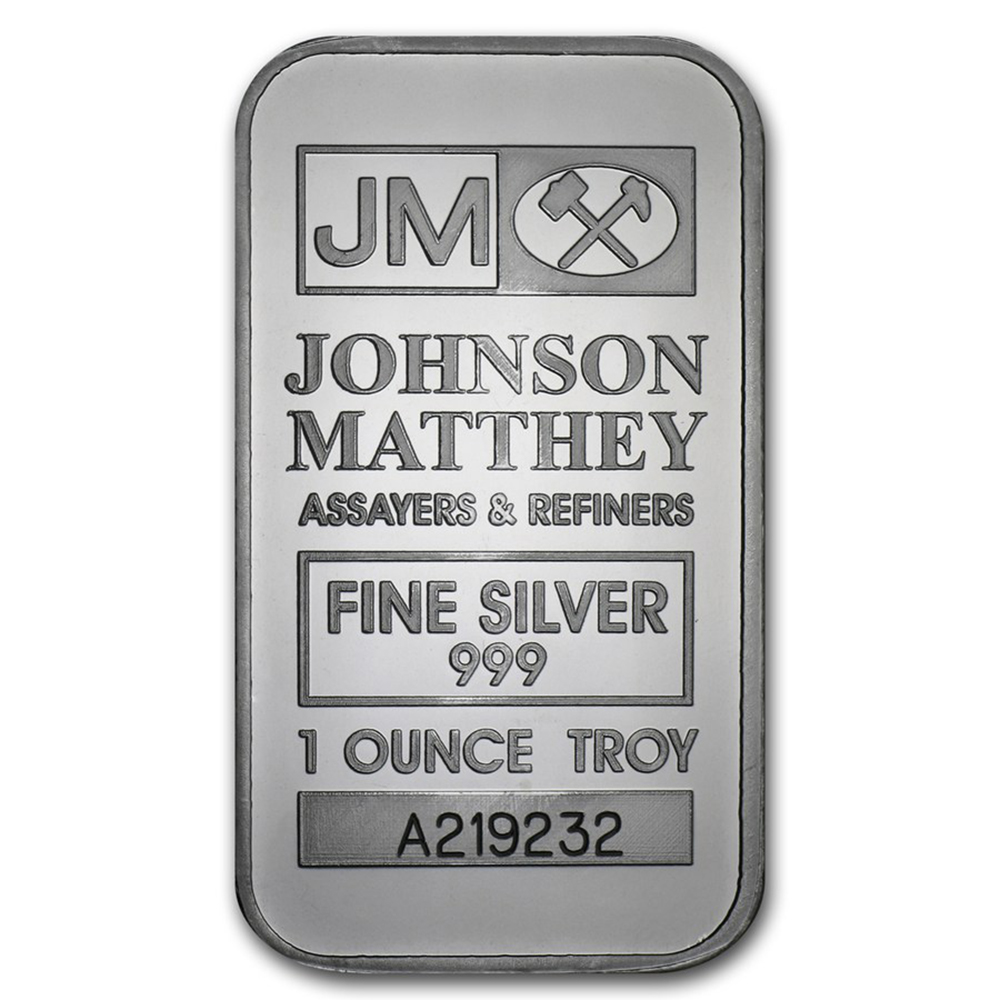 Pre-Owned Johnson Matthey 1oz Silver Bar