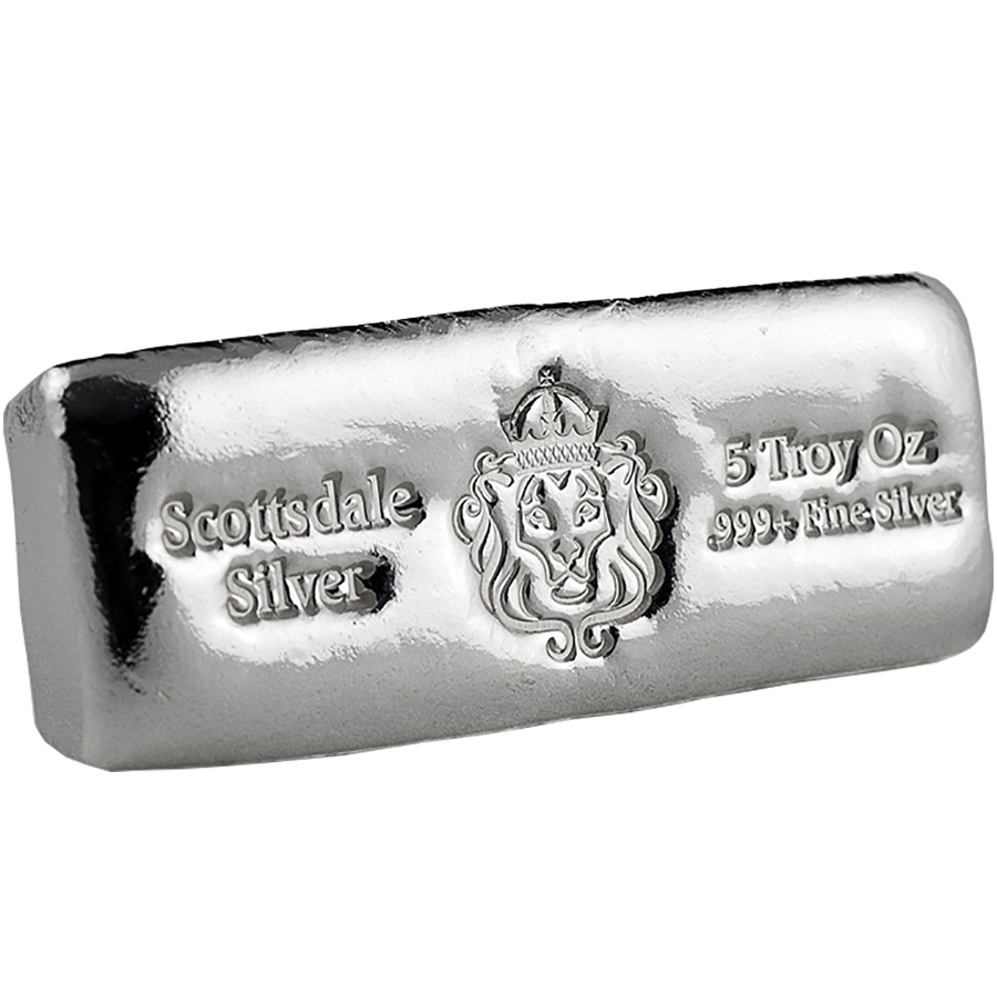 Scottsdale Mint 5oz Cast Silver Bar (Image 1)
