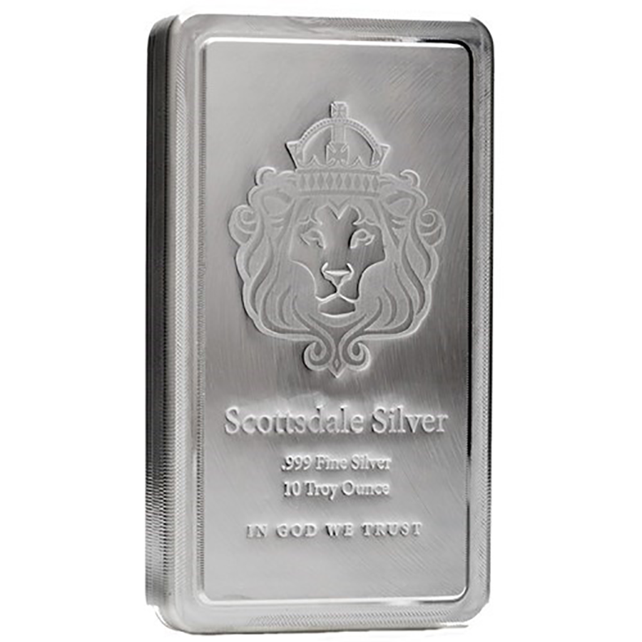 Pre-Owned Scottsdale Mint 10oz Stacker Silver Bar