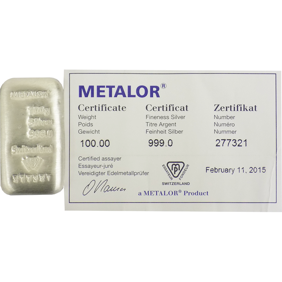Metalor 100g Silver 5 Bar Bundle (Image 2)