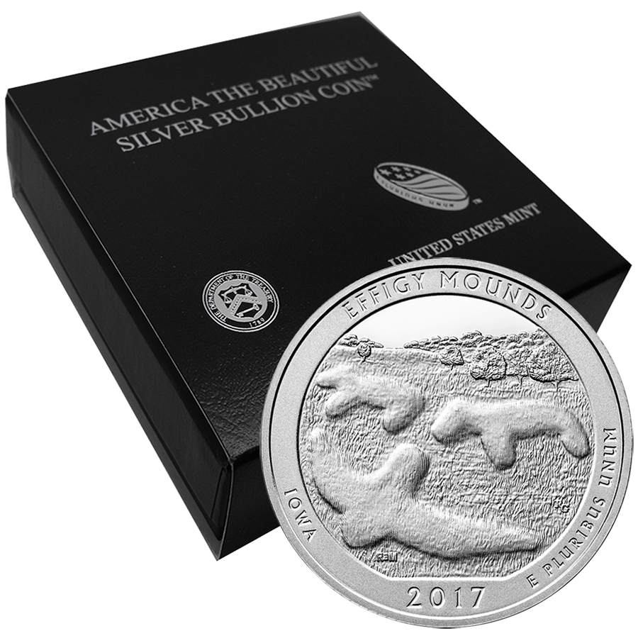 2017 ATB Effigy Mounds National Monument 5oz Silver Coin with Gift Box