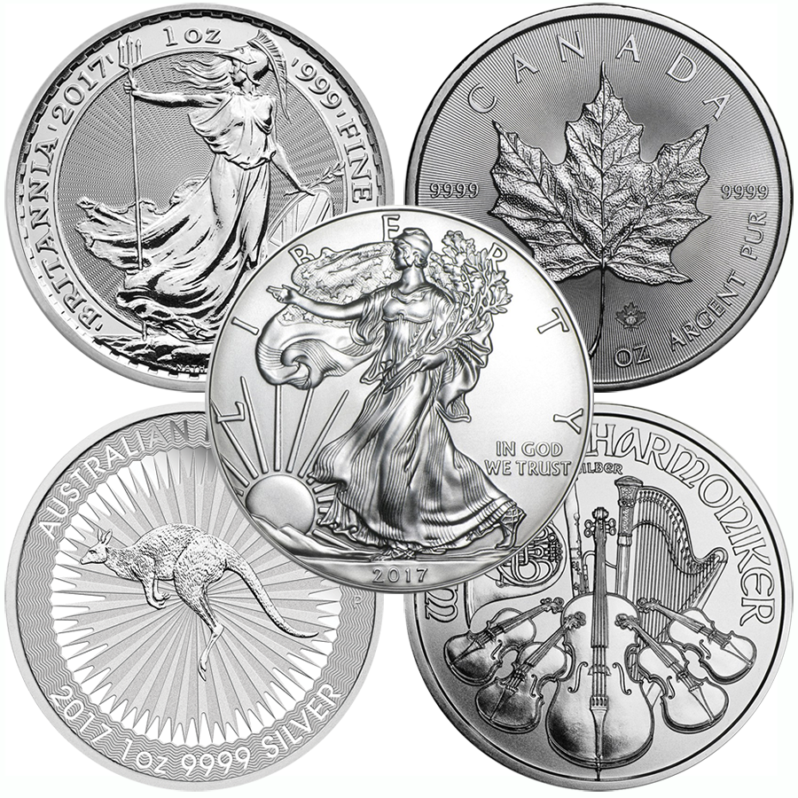 2017 Most Popular 1oz Silver Coin Collection (5 Coins)