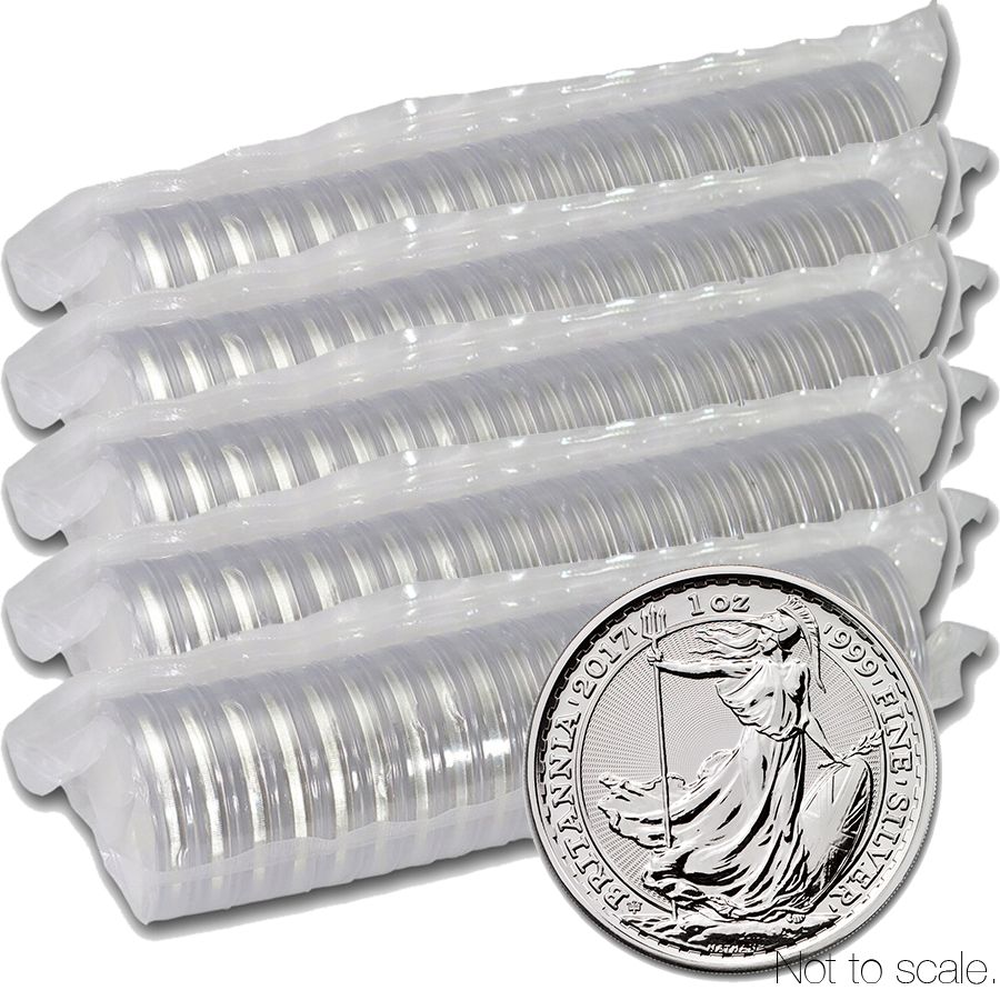 2017 UK Britannia 20th Anniversary 1oz Silver 100 Coin Box