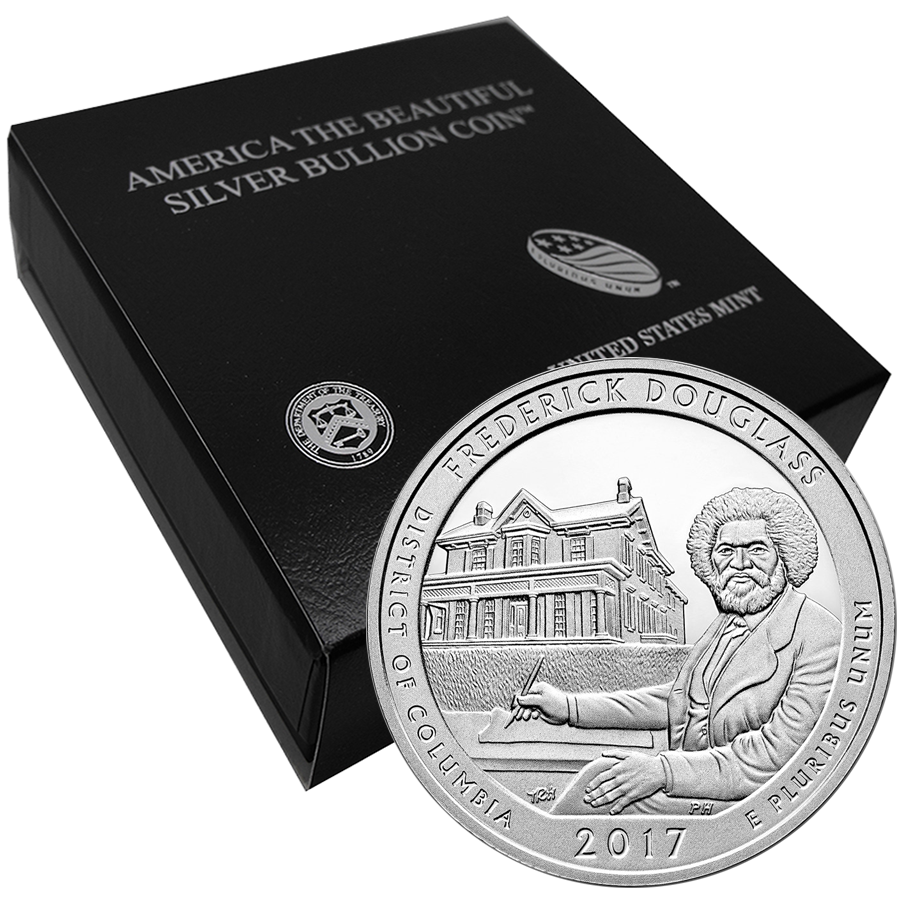 2017 ATB Frederick Douglass 5oz Silver Coin with Gift Box
