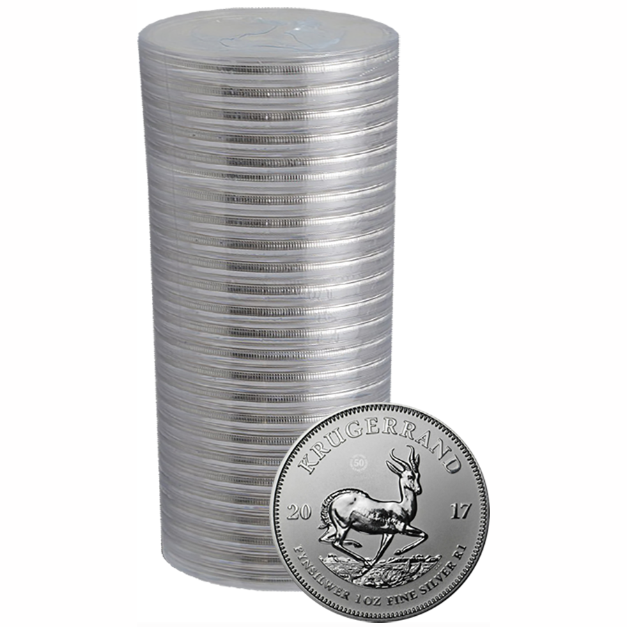 2017 South African Krugerrand Premium Uncirculated 1oz Silver 25 Coin Pack
