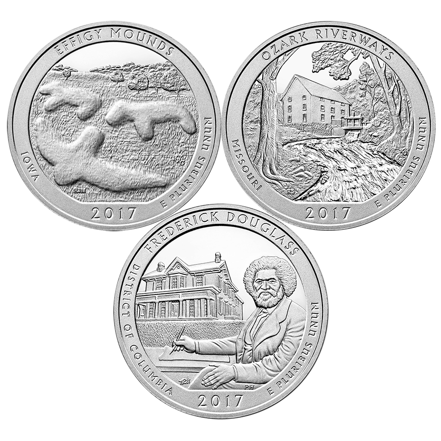 2017 ATB Effigy, Douglass & Ozark 5oz Silver Coin Collection (Image 1)