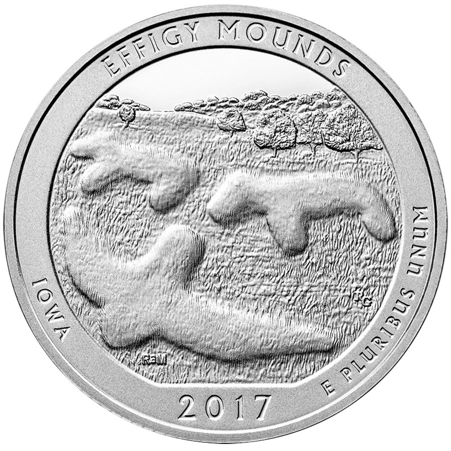2017 ATB Effigy, Douglass & Ozark 5oz Silver Coin Collection (Image 3)