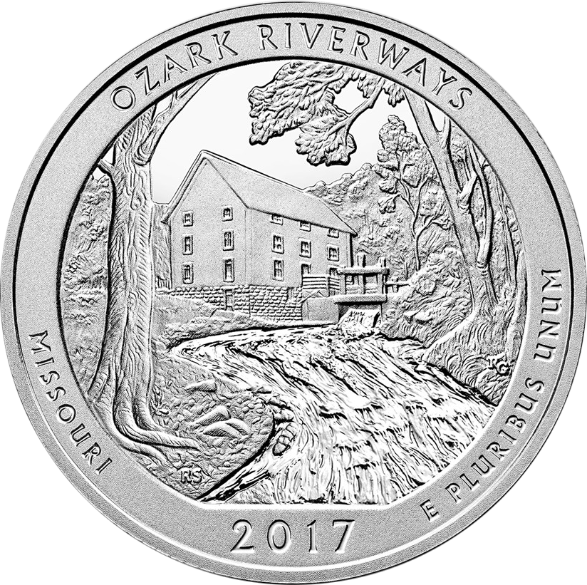 2017 ATB Effigy, Douglass & Ozark 5oz Silver Coin Collection (Image 4)