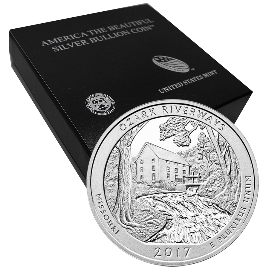 2017 ATB Ozark National Riverways 5oz Silver Coin with Gift Box (Image 1)