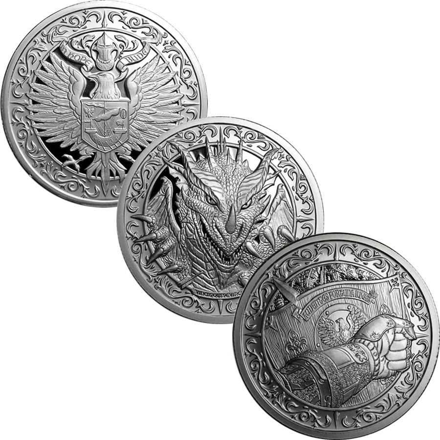 Destiny Knight 2oz Silver Round Collection (3 coins)