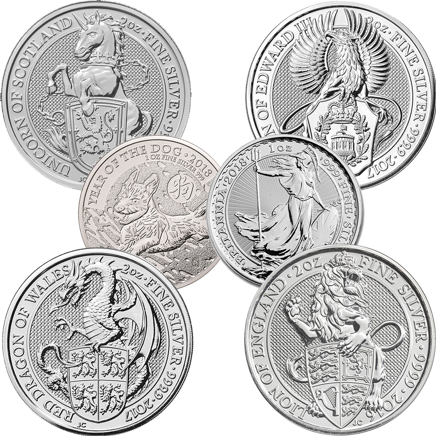 2016 - 2018 Great British Silver Coin Collection (10oz)