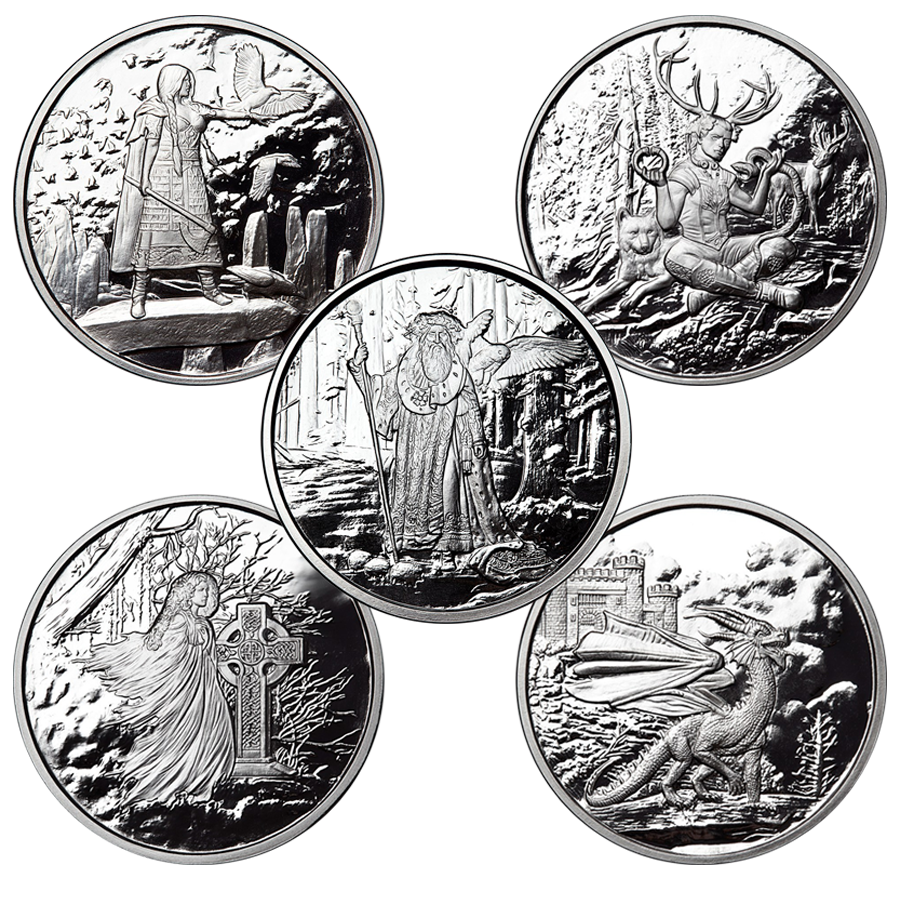 Celtic Lore 5oz Silver Proof Round Collection (5 Coins)